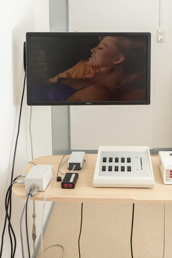scherm en beoordelingskastje bij seksonderzoek