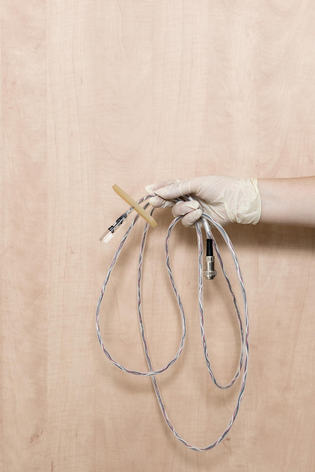 glazen tampon, onderzoeksinstrument voor seksonderzoek bij vrouwen